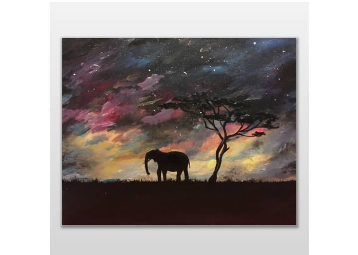 elephant galaxy paint night eden seattle